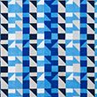 Pure Cotton Geometric Beach Towel - bluemix
