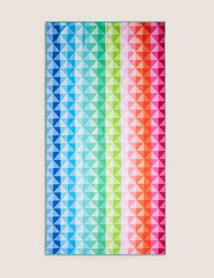 Microfibre Geometric Beach Towel