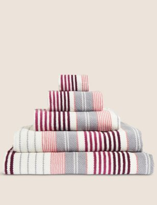 Pure Cotton Striped Spa Towel