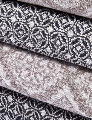 Pure Cotton Tile Print Towel
