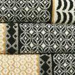 Pure Cotton Tile Print Towel - naturalmix
