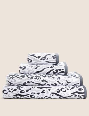Cotton Rich Leopard and Zebra Shimmer Towel