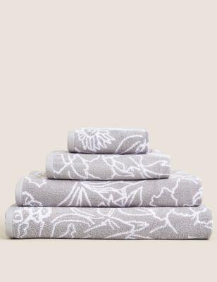 Pure Cotton Floral Towel