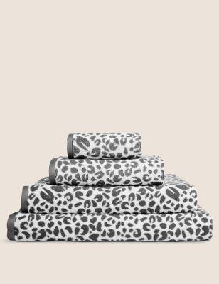 Pure Cotton Leopard Print Towel