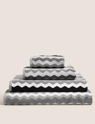 Pure Cotton Zig Zag Towel