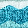 Pure Cotton Zig Zag Towel - tealmix