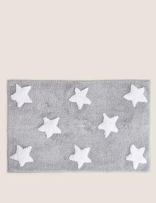 Pure Cotton Stars Bath Mat