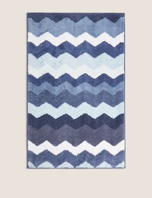 Pure Cotton Zig Zag Bath Mat