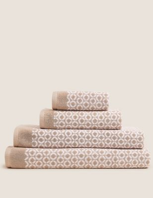 Pure Cotton Repeat Links Towel