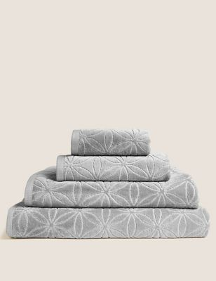 Cotton Rich Repeat Shimmer Towel