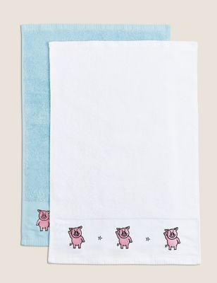 2 Pack Pure Cotton Percy Pig™ Towels
