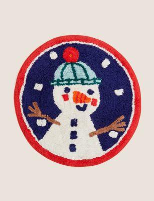 Pure Cotton Light Up Snowman Bath Mat