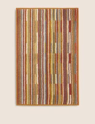Pure Cotton Striped Bath Mat