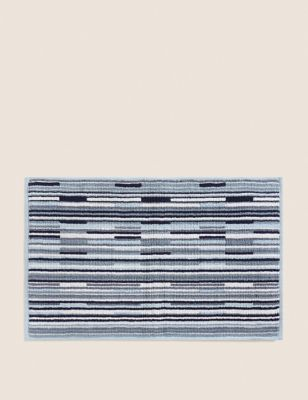 Pure Cotton Striped Bath Mat