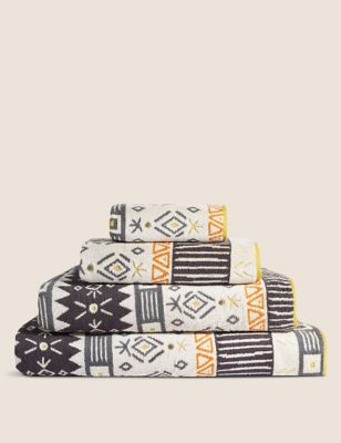 Pure Cotton Geometric Towel