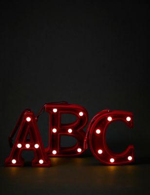 Red Velvet Light Up Letter Decoration