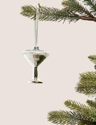 Martini Glass Hanging Tree Decoration