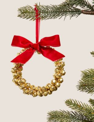 Large Hanging Bell Wreath Decoration