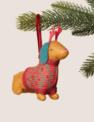 Hanging Sausage Dog Decoration