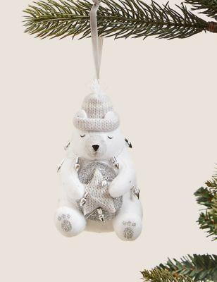 Hanging Polar Bear Decoration