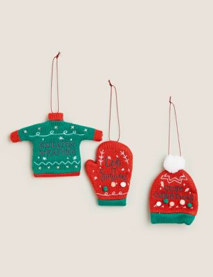 3 Pack Hanging Jumper Tree Decorations