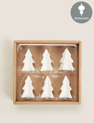 6 Pack Hanging Tree Decorations