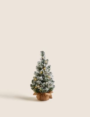 1.5ft Pre-lit Snowy Christmas Tree