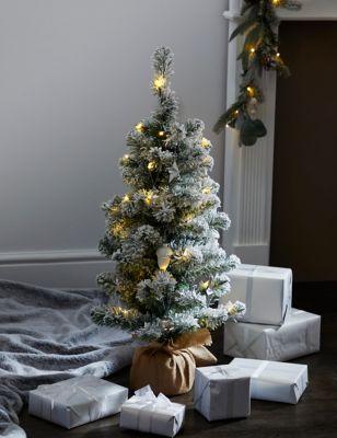 3ft Pre-lit Snowy Christmas Tree