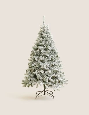 6ft Pre-Lit Snowy Christmas Tree