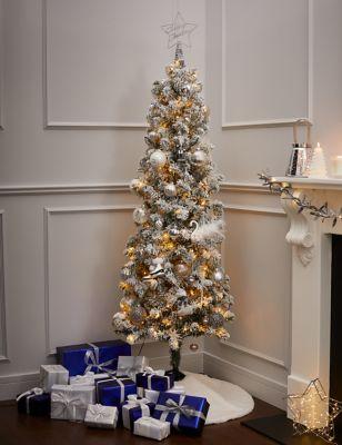 6ft Pre-lit Slim Snowy Christmas Tree