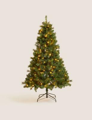 6ft Pre-Lit Pine Christmas Tree