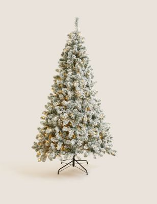 7ft Pre-lit Snowy Christmas Tree