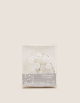 20 Frosted Ball Battery Wire Lights