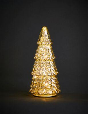 Small Glass Light Up Tree Room Decoration