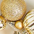 Light Up Bauble Garland - gold
