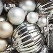 Light Up Bauble Garland - silver