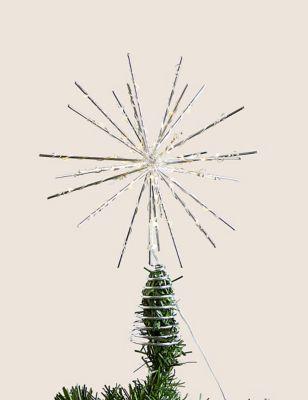 Silver Light Up Star Tree Topper