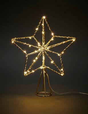 Gold Light Up Star Tree Topper