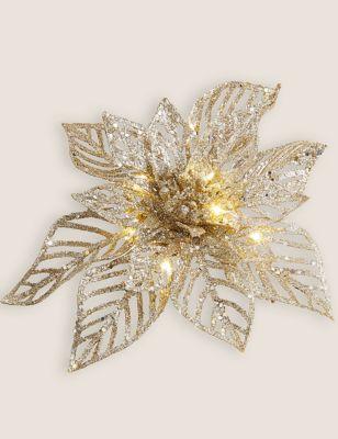 Glitter Light Up Flower Tree Decoration