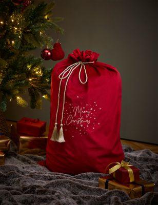 Velvet Merry Christmas Sack