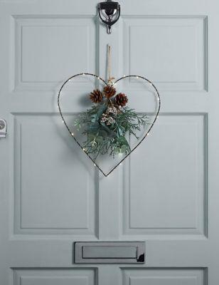 Pre-Lit Heart Wreath