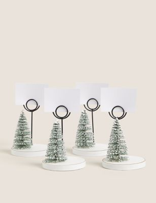 4 Pack Christmas Tree Place Settings