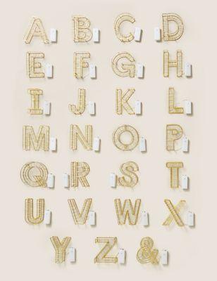 Light Up Gold Letter