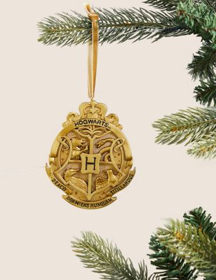 Harry Potter™ Gold Hanging Bauble