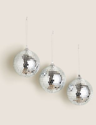 3 Pack Hanging Disco Ball Decorations