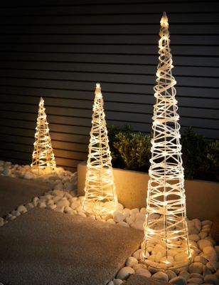 3 Pack Outdoor Cone Christmas Trees