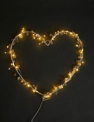 Jewelled Heart Pre-lit Room Decoration