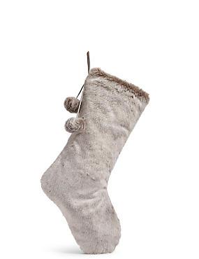 Luxury Faux Fur Stocking, , catlanding