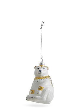 White Polar Bear With Jewels, , catlanding