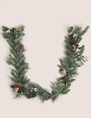 6ft Mistletoe & Pine Garland